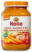 Bébiétel, sárgarépa burgonyával és marhahússal, Demeter, Holle (190 g)