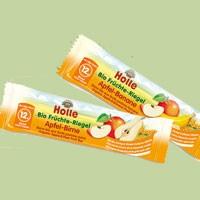 Gyümölcsszelet babáknak, alma-körte, bio, Holle (25g)