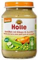 Bébiétel, burgonya zöldborsóval és cukkinivel, Demeter, Holle (190g)