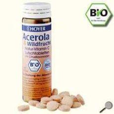 C-vitamin rágótabletta, acerolából és vadon termő gyümölcsökből, bio, Hoyer (60 db- os)
