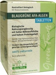 Kékzöld AFA alga tabletta, leveles, bio, Wilco (150db)