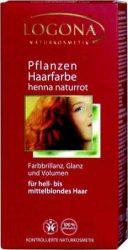 Henna növényi hajfesték por, Henna natúrvörös, Logona (100g)