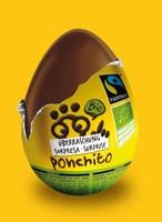 Ponchito - bio csokitojás meglepetéssel, bio, Fairtrade (IT)