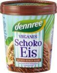 Vegán csokoládé fagylalt rizstejből, bio, Dennree (500ml)