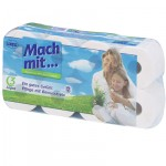 Háztartási toalettpapír (3 rétegű, 150 lapos), öko, Grazie (8 tekercs)