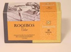 Rooibos natúr tea, filteres, adagoló dobozos, bio, Sonnentor (20g)