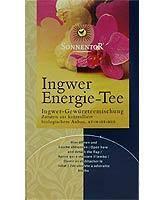 Gyömbér energia tea, adagoló dobozos, bio, Sonnentor (30g)