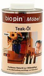 Teak-olaj, színtelen, Biopin (0,5 l)