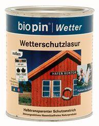 Időjárásálló lazúr, Biopin (2,5 l)