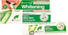 Fehérítő fogkrém bioaktív aloe verával, Dr. Organic (100ml)