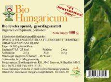 Spenót (50g pellet), fagyasztott, bio, BioHungaricum (10 kg)