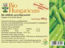 Zöldbab, vágott, fagyasztott, bio, BioHungaricum (10 kg)