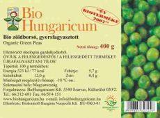 Zöldborsó, zsenge, fagyasztott, bio, BioHungaricum (10 kg)