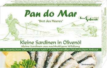 Szardínia bio olivaolajban, bio, Pan do Mar (120g)