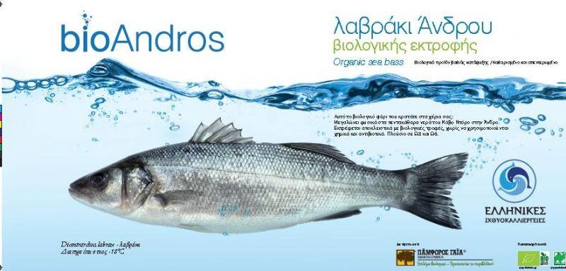 Tengeri sügér egészben, fagyasztott, bio (BioAndros)